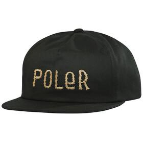 POLER Fur Font Snapback copricapo nero